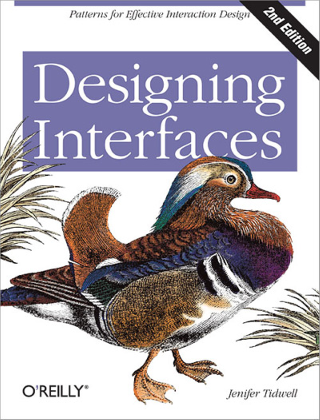 Designing Interfaces, by Jenifer Tidwell
